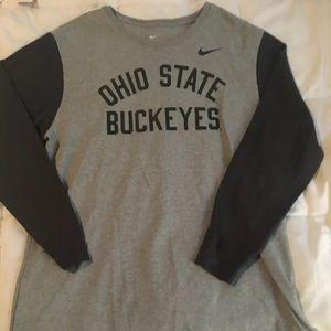 Nike Ohio State L/S T Shirt. EUC.  XL